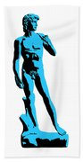 Michelangelos David - Stencil Style Beach Towel