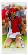 Michelle Wie Of The Usa Solhiem Cup Reacts After Missing A Putt Beach Towel