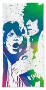 Mick Jagger And Keith Richards Beach Towel