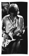Mick On Guitar 1977 Beach Towel