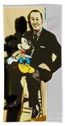 Mickey And Walt Beach Sheet