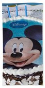 Mickey Mouse Cake Beach Towel