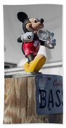 Mickey On A Post Beach Towel