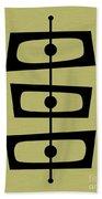Mid Century Shapes On Avocado Beach Towel