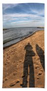 Mid Dec Day At The Beach...who Can Argue At Presque Isle State Park Series Beach Towel