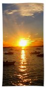 Mid Summer Sunset Over The Island Beach Towel