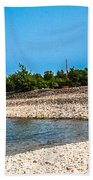 Middle Island Lighthouse Beach Towel