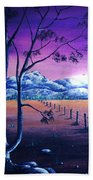 Midnight At The Border Beach Towel