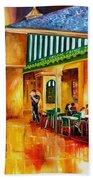 Midnight At The Cafe Du Monde Beach Sheet