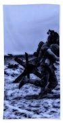 Midnight Battle Stay Close Beach Towel by Thomas Woolworth