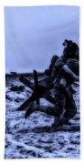 Midnight Battle Stay Close Beach Sheet