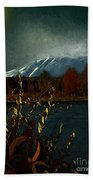 Midnight Blue In The Mountains Beach Towel