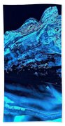 Midnight Blue Sea Shell Beach Towel