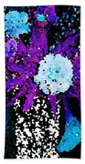 Midnight Callas And Orchids Abstract Beach Towel