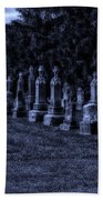 Midnight In The Garden Of Stones Beach Towel by Thomas Woolworth
