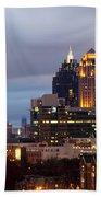 Midtown Atlanta Skyline At Dusk Beach Towel