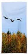 Migratory Flight Beach Towel