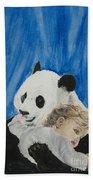 Mika And Panda Beach Towel