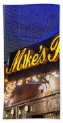 Mike's Pastry Shop - Boston Beach Towel by Joann Vitali