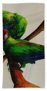 Military Macaws Beach Towel