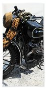 Military Style Bmw Motorcycle Beach Towel