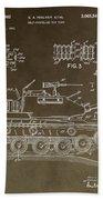 Military Tank Patent Beach Towel