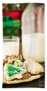 Milk And Cookies Beach Towel by Edward Fielding