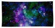 Milky Way Abstract Beach Towel