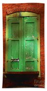 Mill Door In Dappled Sunlight Beach Towel