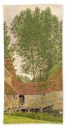 Mill On The Thames At Mapledurham, 1860 Beach Towel