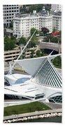 Milwaukee Art Museum Aerial Beach Towel
