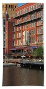 Milwaukee River Architecture 4 Beach Towel