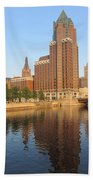 Milwaukee River Theater District 4 Beach Towel