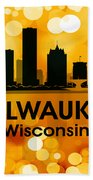 Milwaukee Wi 3 Beach Towel by Angelina Vick