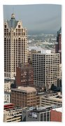 Milwaukee Wisconsin Skyline Aerial Beach Towel