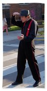 Mime Performer On The Street Beach Towel