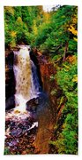 Miner's Falls Beach Towel