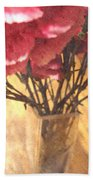 Mini Carnation Bouquet Beach Towel