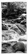 Mini Cascades Smoky Mountains Bw Beach Towel