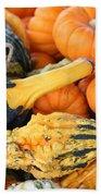 Mini Pumpkins And Gourds Beach Towel