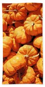 Mini Pumpkins Beach Towel