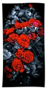Mini Roses On Walk Beach Towel