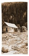 Mining House In Black And White Beach Towel