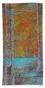 Minnesota Sunset Beach Towel by Jacqueline Athmann