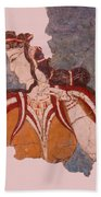 Minoan Wall Painting Beach Towel
