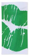 Mint Green Kiss Beach Towel