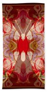 Miracles Can Happen Abstract Butterfly Artwork Beach Towel