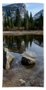 Mirror Lake Threesome 3 Yosemite Beach Towel