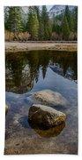 Mirror Lake Threesome Yosemite Beach Towel