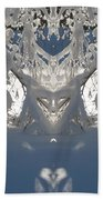 Mirror Of Snow  Beach Towel
